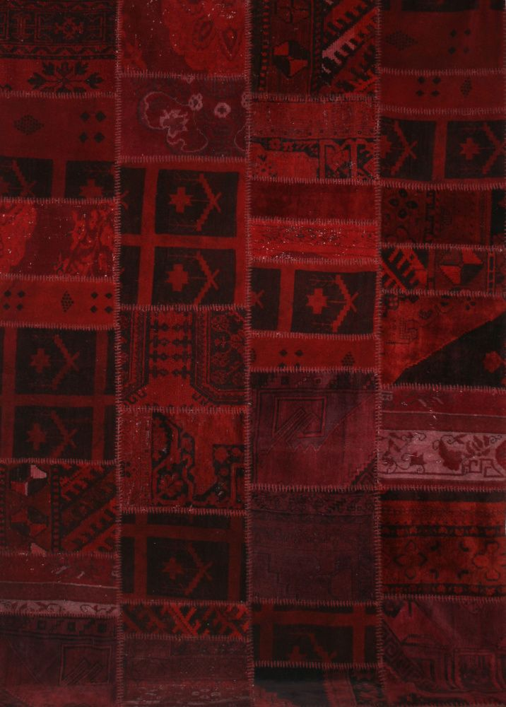 Vintage Patchwork Red by Bazaar Velvet Contemporary Rugs
