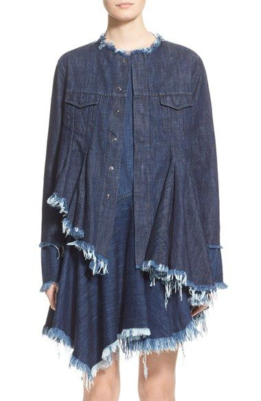 Marques'Almeida Collarless Denim Jacket (Nordstrom Exclusive) available at #Nordstrom