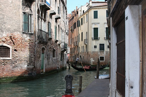 The canals of Venice, Italy ... oh and of course you have to a gondola in the shot. It is Venetian law!