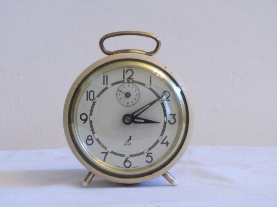 French Vintage Jaz Alarm Clock Loft Deco