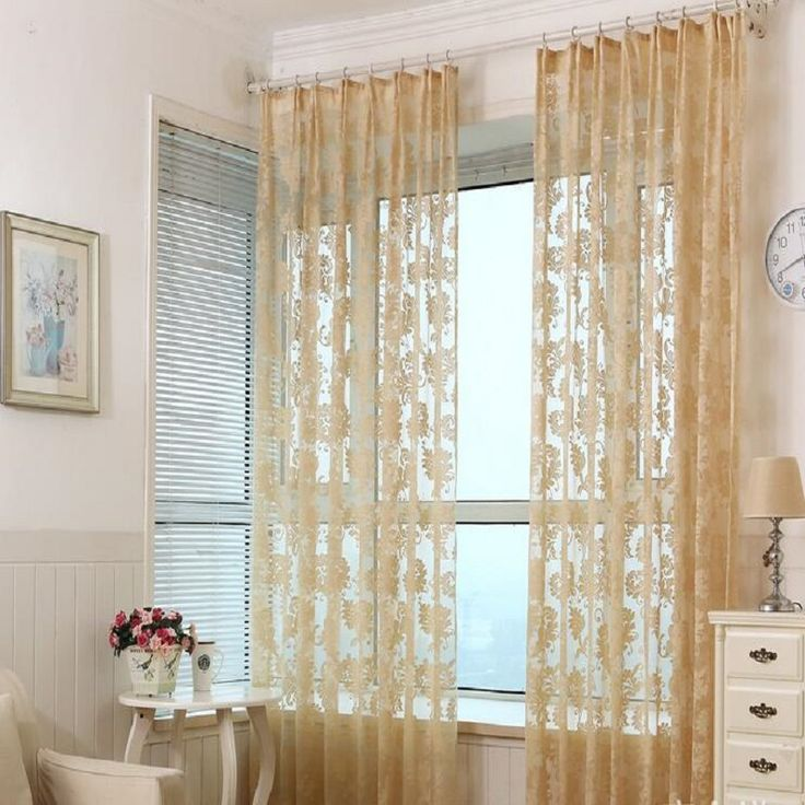 Window Curtain For Living Room cortinas Drawing Bedroom Modern Drapes Solid Loops Beige Cortinas 1*2.7m 1PCS/Lot free shipping