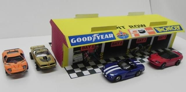 Marchon Grand Stand And Pit Row Paper Models For Slotcars by Total Control Racing