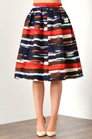 Freya Washed Stripe Skirt