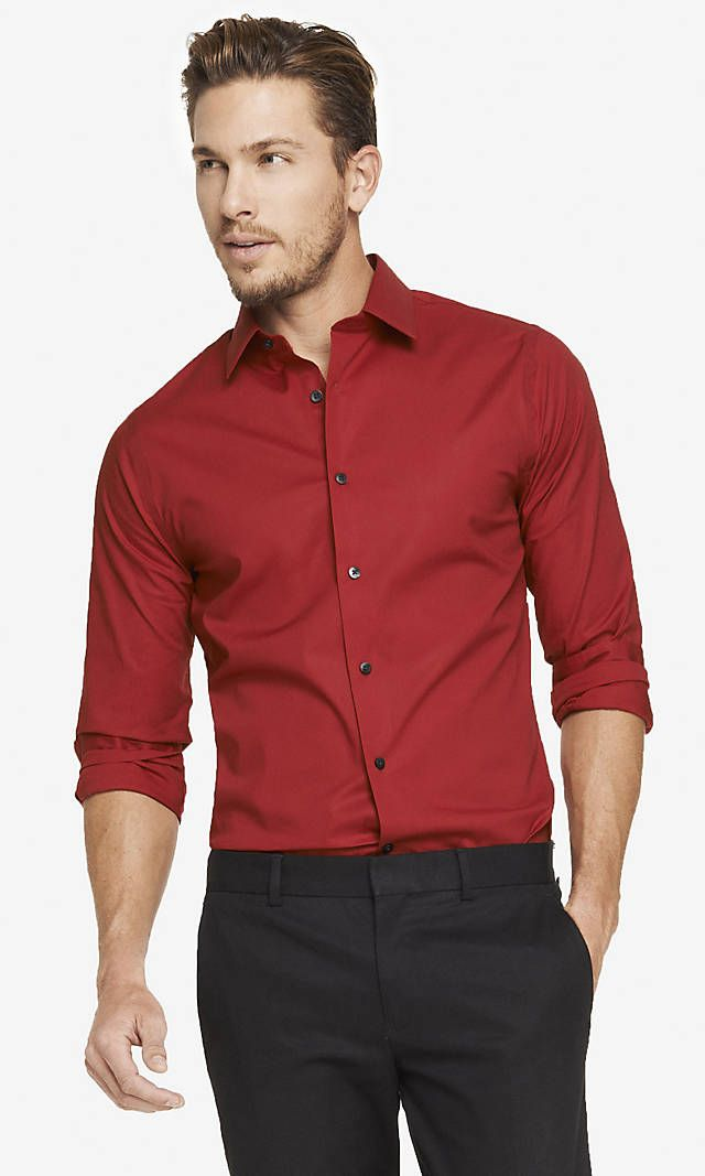 Extra Slim 1mx Stretch Cotton Shirt Express Small Sizes