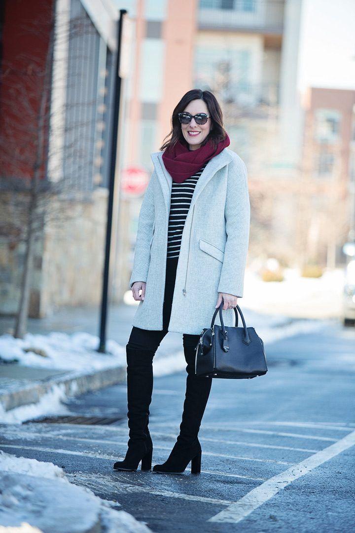 846bf79f0de Wool Cocoon Coat + Stripes