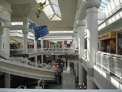 walden galleria mall  with its very 1989 ceiling doo-dads.  loved them.