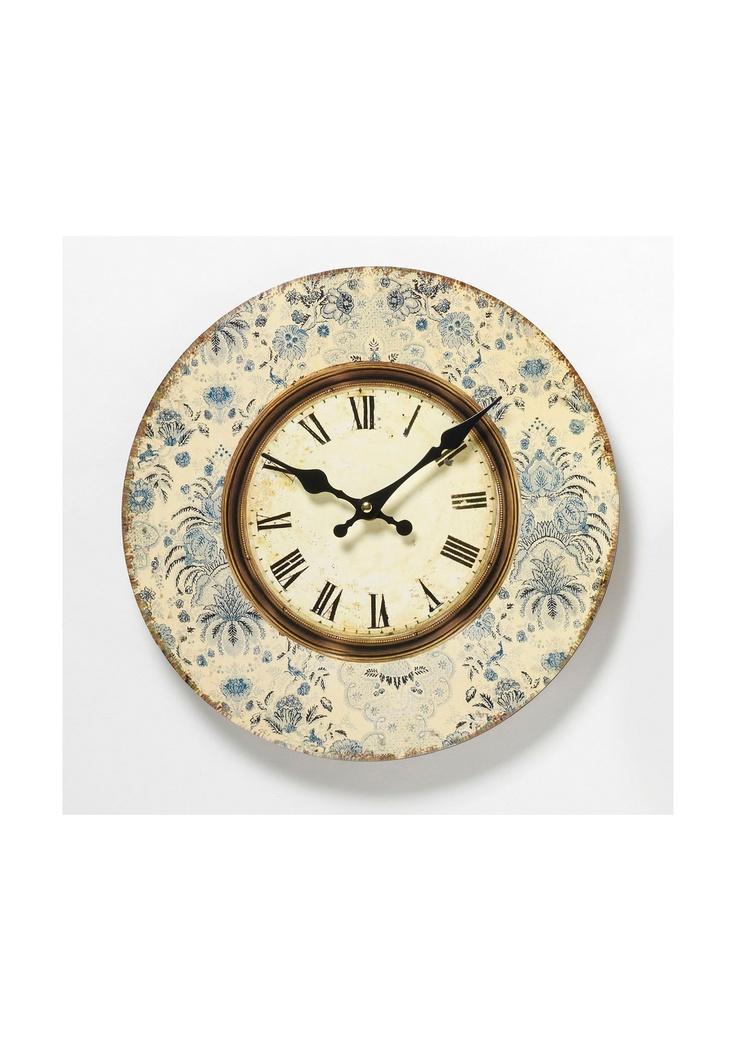 Blue Floral Clock