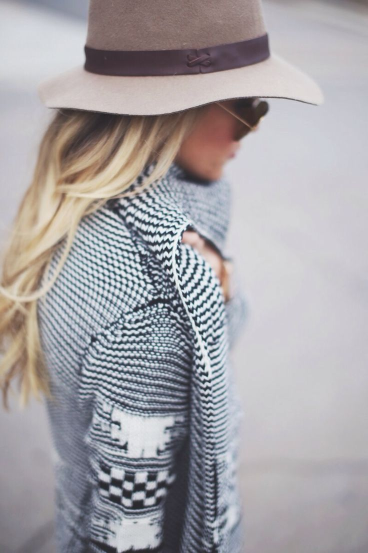 Oh, super cute sweater and hat.