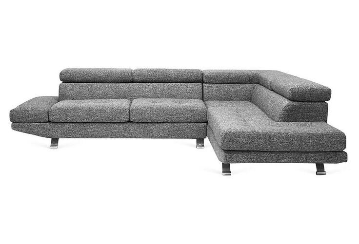 One Kings Lane - Take a Seat - Adelaide Sectional Sofa, Gray Twill