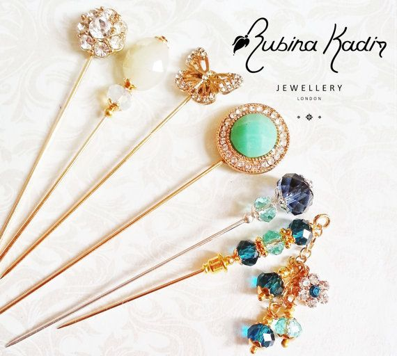 Tropical Paradise Hijab Pin Set - Hat Pins / Stick Pins / Eid Gift / Bridal Gift / Pins