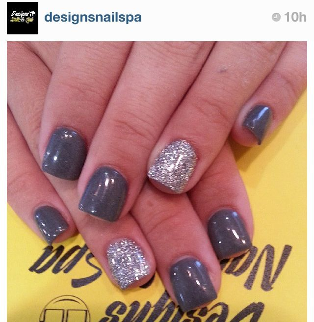 Grey Manicure!  Come to Beauty Bar & Browz in Ferndale, MI for all of your grooming and pampering needs!  Call (313) 433-6080 to schedule an appointment or visit our website www.beautybarandbrowz.com to learn more about us!