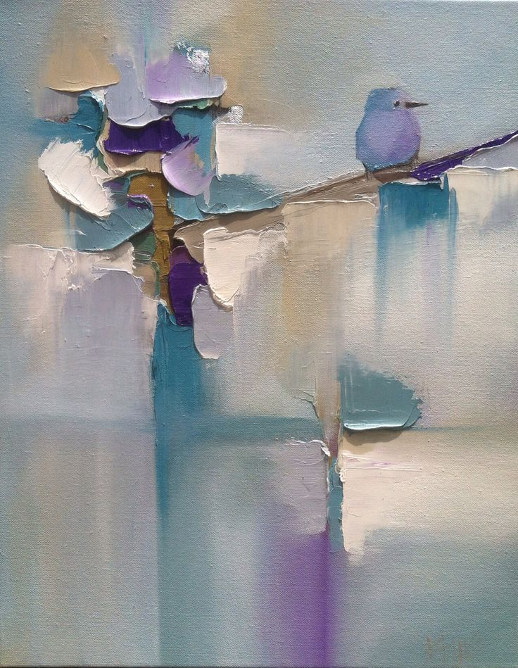 Abstract bird painting by Blaire Wheeler