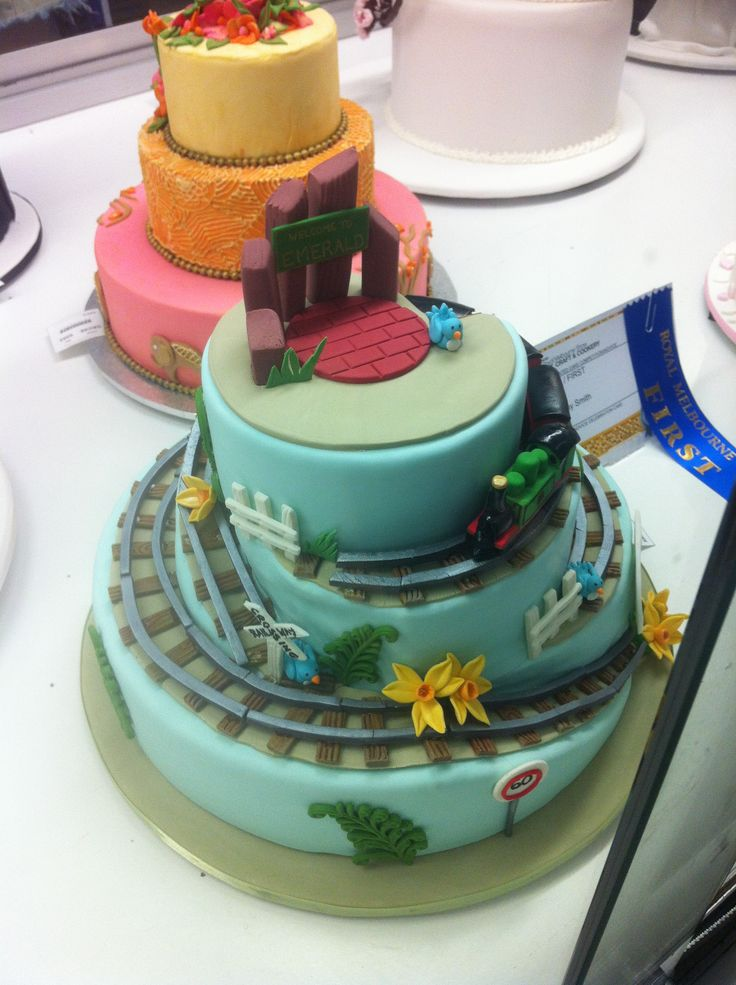 Decorative Themed Cake Mountain Train Royal Melbourne Show 2014