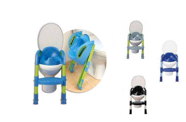 Kiddyloo is the sturdiest potty trainer on the market  * fits all standard toilets  * legs are height adjustable  *step has 2 height positions  *great for copying mommy and daddy.  *easy to clean, easy to use, easy to store.  *handles on both sides comfy to hold on to  *from 18 months +