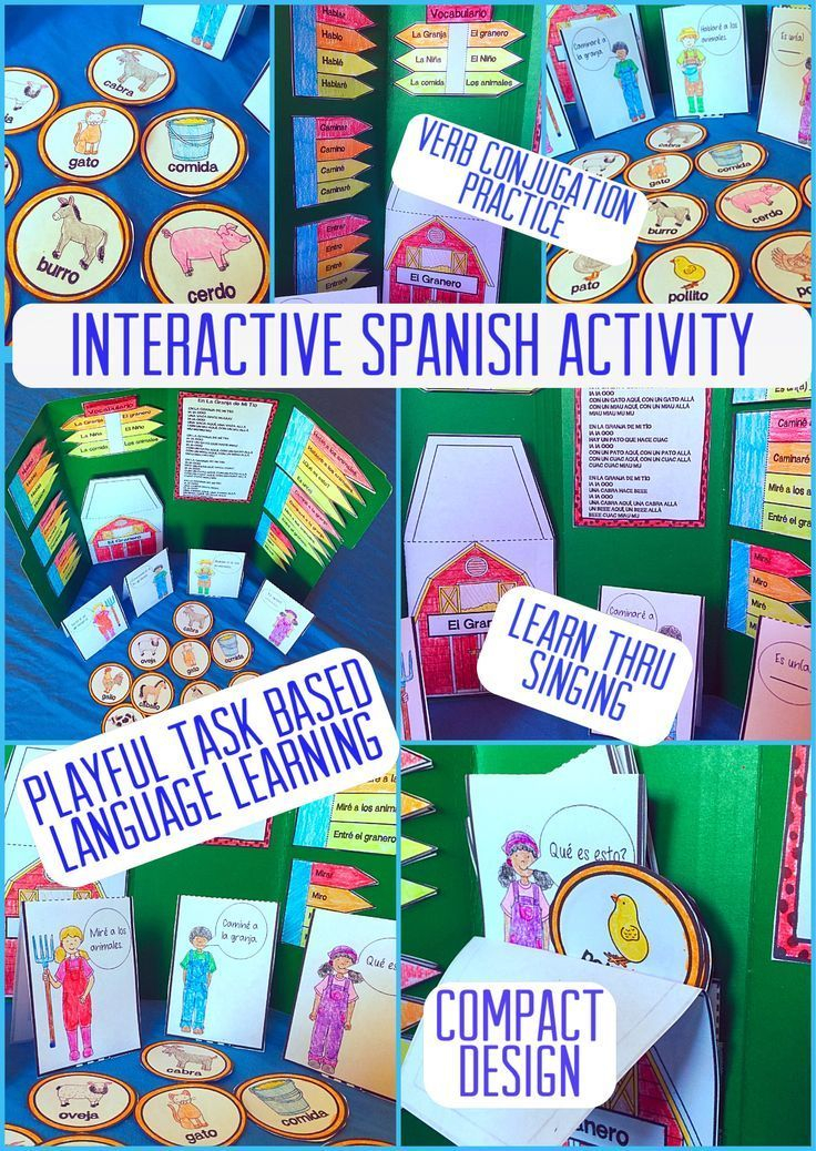 Spanish Interactive Notebook Activity or Folder Activity: La Granja will have your students practicing conversational Spanish in a playful and relaxing environment. PDL's philosophy of incorporating play into learning and discovery shines brightly in this Barnyard play. Students will find a comfortable environment to practice speaking Spanish through the playful scenery of a barnyard and animals. This can be put into a notebook or made as a stand alone folder activity.
