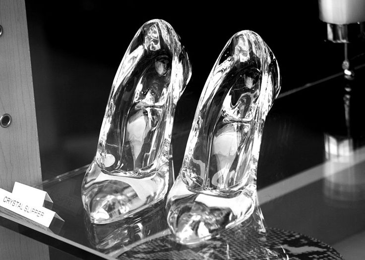 Cinderella's Glass Slippers...  Glass stilettos