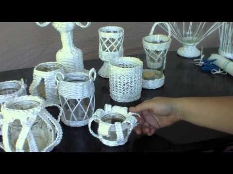Coleccion romantica. Candeleros tejidos. Parte 1. - YouTube