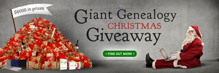 It was a few weeks ago now when we announced the Giant Genealogy Christmas Giveaway. With over $6000 in prizes up for grabs from 42 vendors, and a total of 85 prizes, this was a genealogy giveaway like no other. Giant Genealogy Christmas Giveaway – The Winners .... It's now a week before Christmas, the competition has closed, and the winners have been …