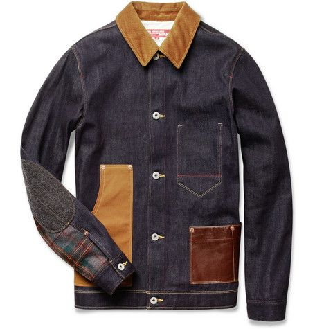 Junya Watanabe Levi's Contrast-Panel Denim Jacket