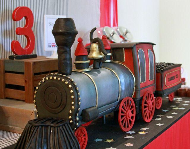 "Photo 1 of 49: Vintage Train / Birthday ""Zander Express"" | Catch My Party"