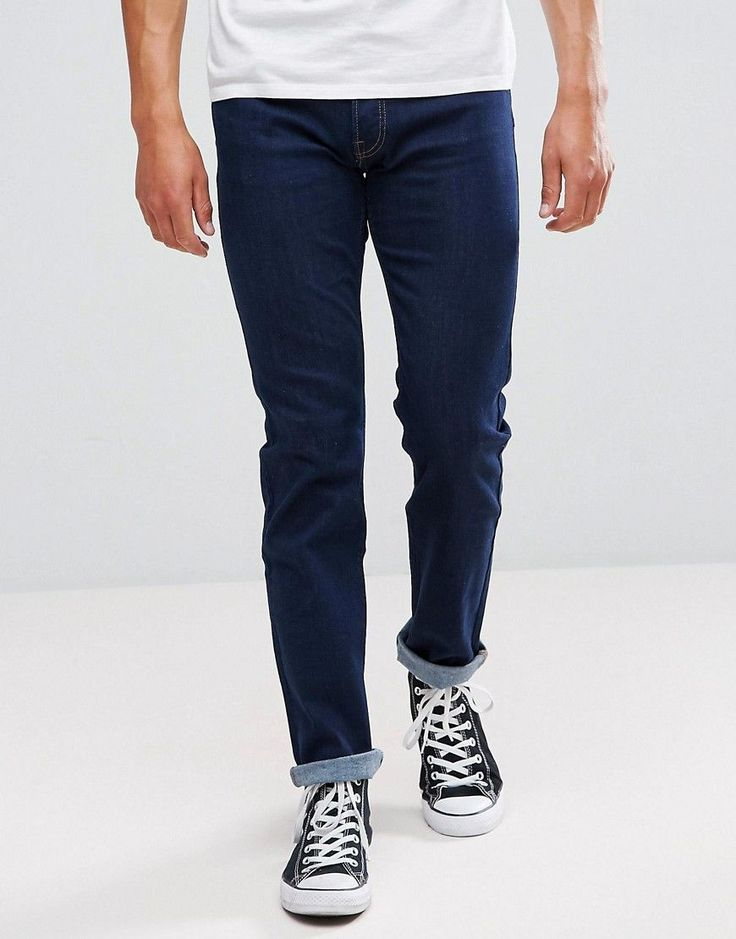 Lee Jeans Powell Slim Fit Jeans in Solid Blue - Blue
