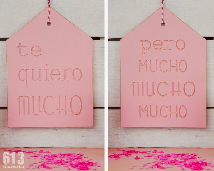 """casitas """"te quiero mucho"""""""