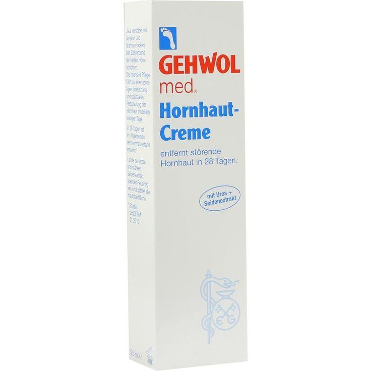 GEHWOL MED Hornhaut Creme:   Packungsinhalt: 125 ml Creme PZN: 06767286 Hersteller: Eduard Gerlach GmbH Preis: 5,67 EUR inkl. 19 % MwSt.…