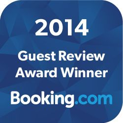 We are proud to have receved, for the year 2014, from booking.com the guest review award with a score of 9,1. Thank you all!