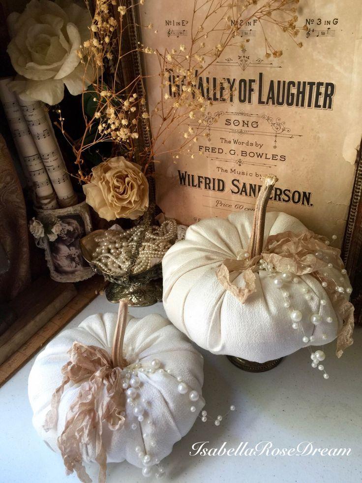 Fabric pumpkins, fall decor, dried pumpkin stems,elegant fall decor, cream color pumpkins by IsabellaRoseDream on Etsy https://www.etsy.com/listing/474675339/fabric-pumpkins-fall-decor-dried-pumpkin