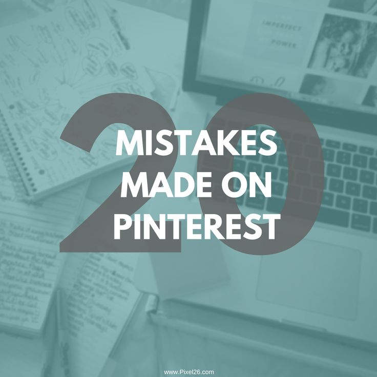 PIxel26.com has FREE Pinterest Mistakes eBook - tons of ideas, tips and tricks for your online business