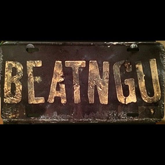 Jeepers Creepers BEATNGU Vanity License Plate by ScreamForMeInc