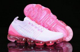 cbb75a718ba07 Nike Air Vapormax Flyknit 2019 Womens Running Shoes White Pink AJ6900-005