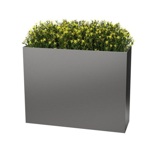 Tall Wide Metal Square Planter
