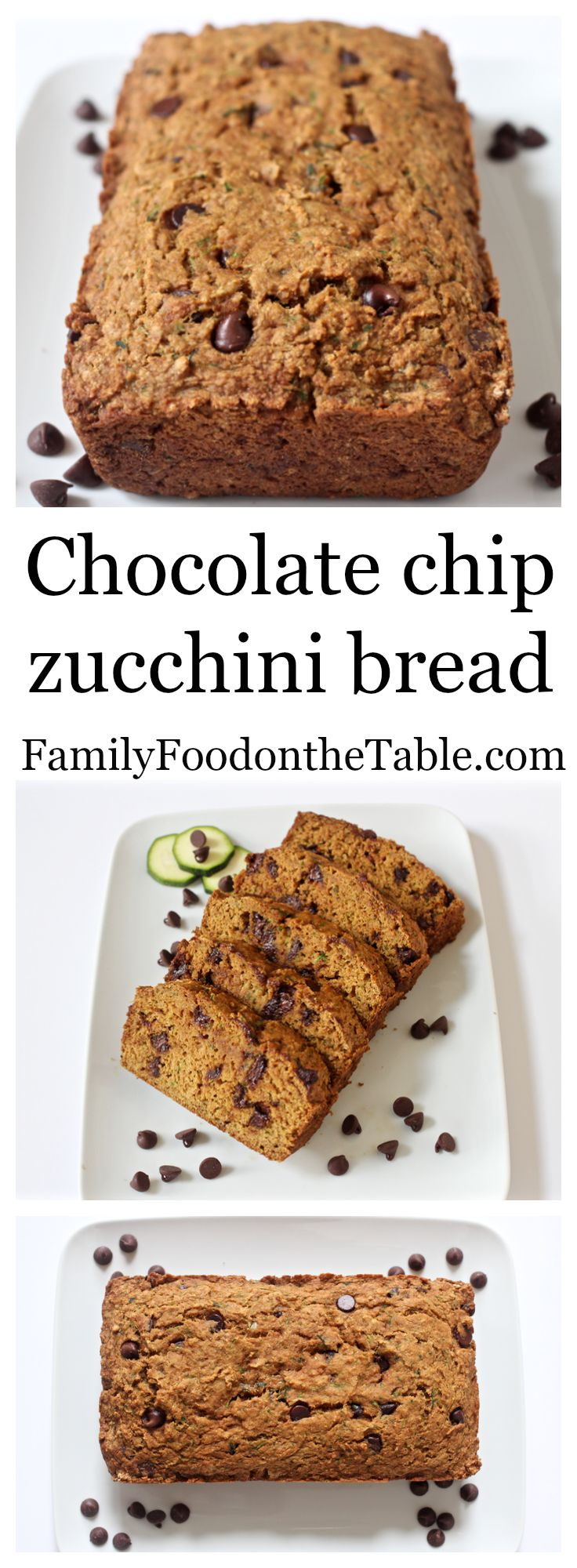 Chocolate chip zucchini bread - easy, healthy, yummy! | Family Food on ...
