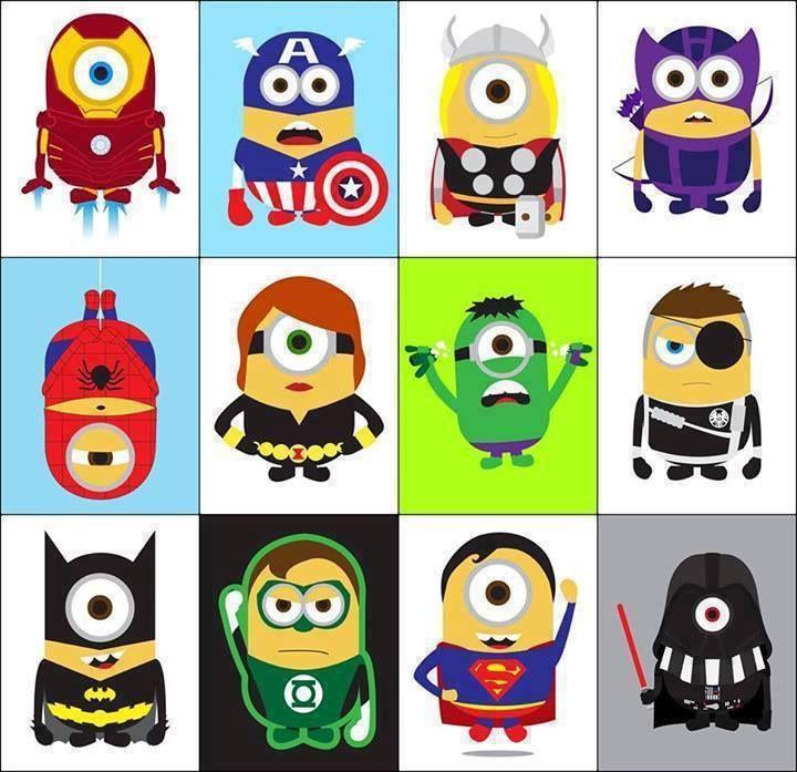 Minions as superheros © Copyright Kevin Magic Lam http://kevinmagiclam.com/portfolio/minions.html