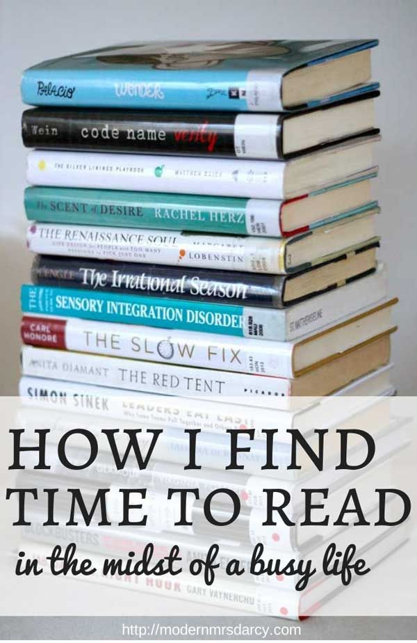 How I Find Time to Read
