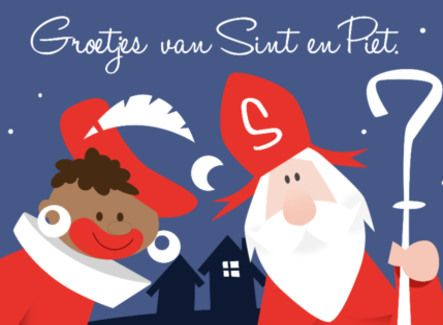 Zwarte Piet en Sinterklaas doen de groetjes- Greetz