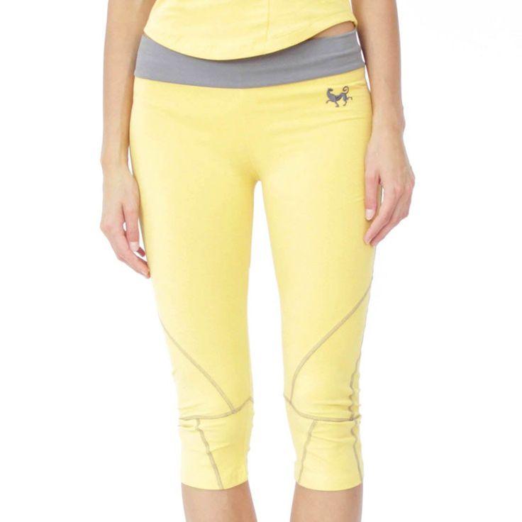 Prancing Leopard Women's Capri Leggings SEYCHELLES, Organic Cotton Yogapants