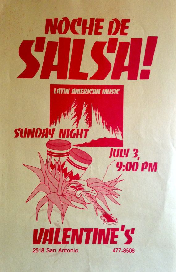 Vintage Salsa Music Concert Poster By Secondeditionaustin
