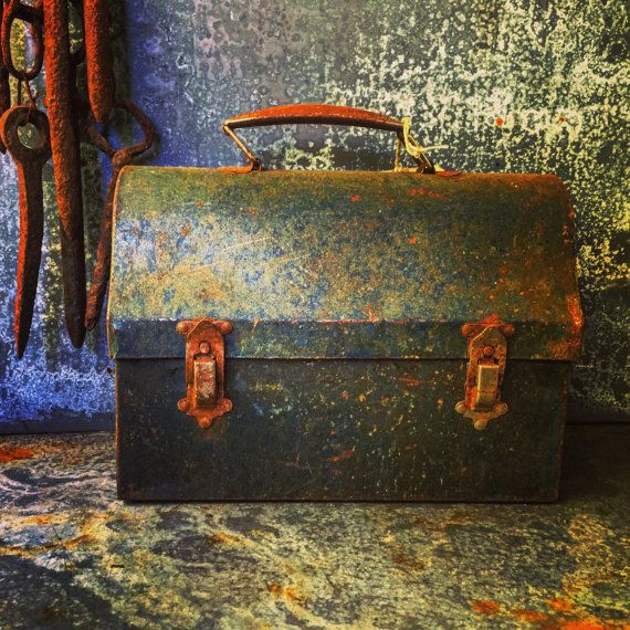 Rustic Lunch Box / Steel Box / File / Organizer / Handbag