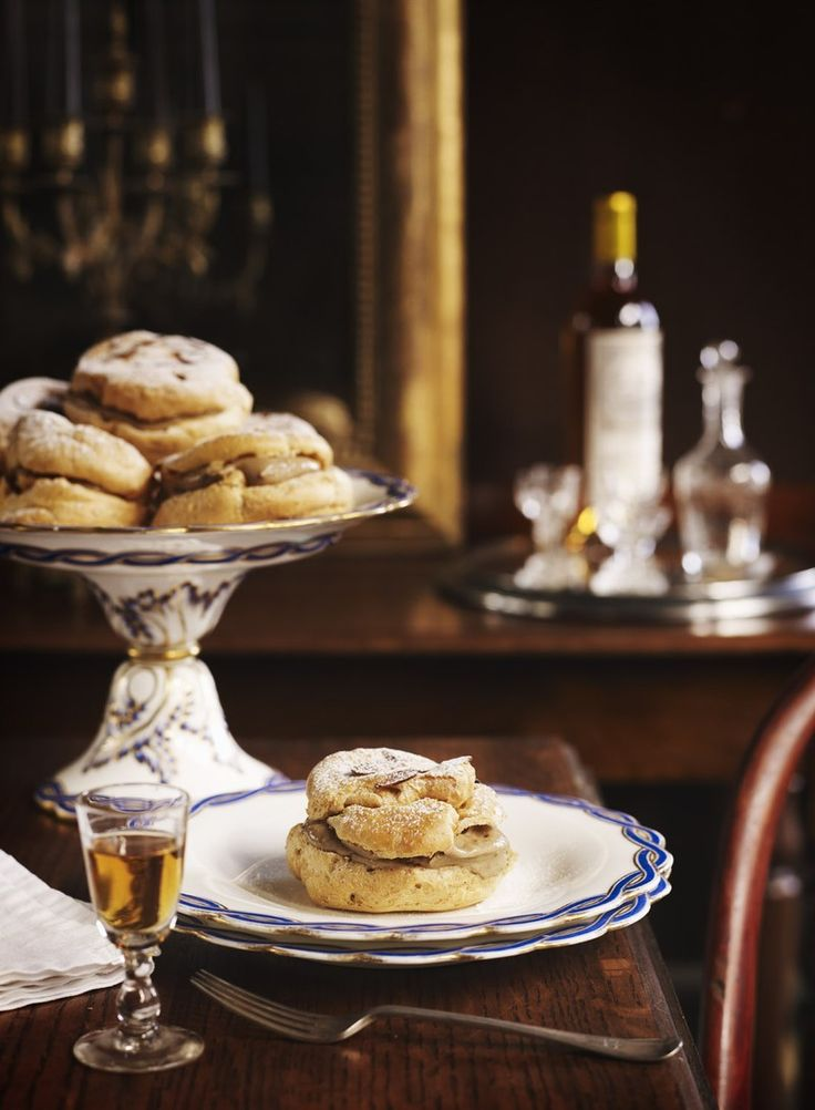 Celebrate Bastille Day with homemade profiteroles filled with luscious coffee crème pâtissière.