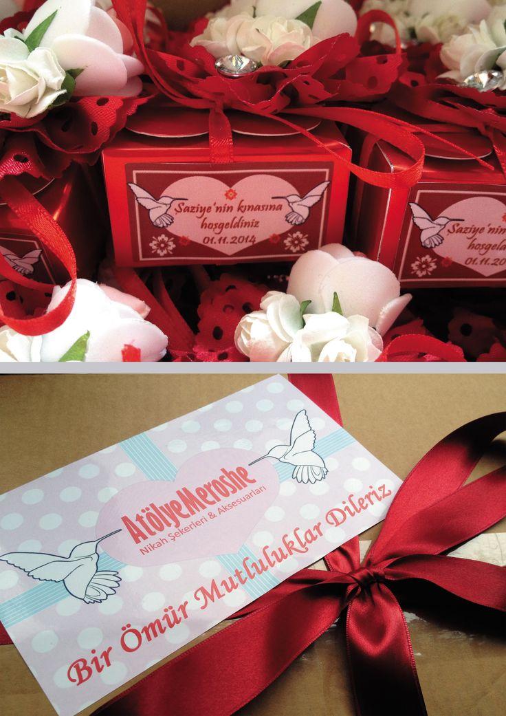 Şaziye hanımın kına kutuları hazır ^^
