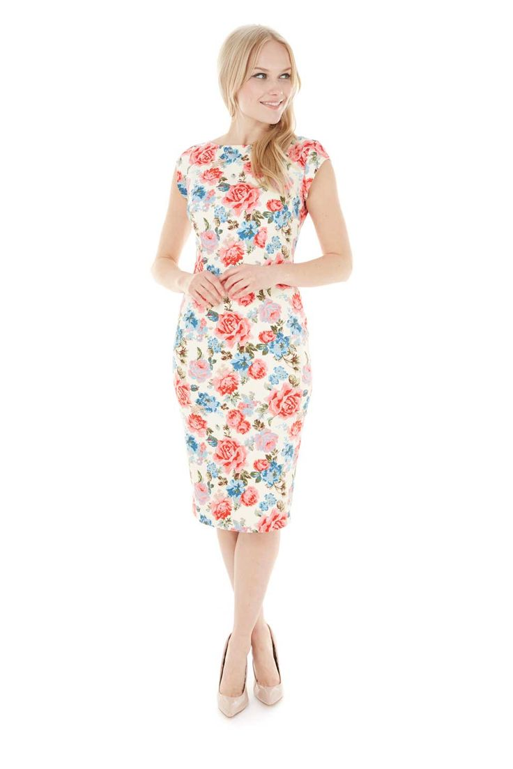 Classic Shift Vintage Rose Dress
