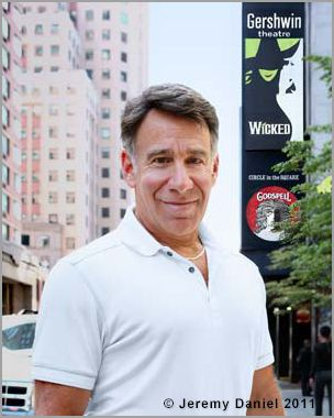 Stephen Schwartz, the composer and lyricist of Wicked, outside the Gershwin Theatre