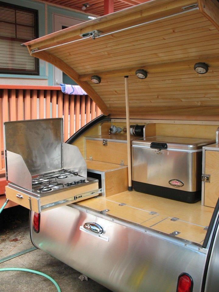 76 best images about camping on pinterest diy teardrop for Teardrop camper kitchen ideas