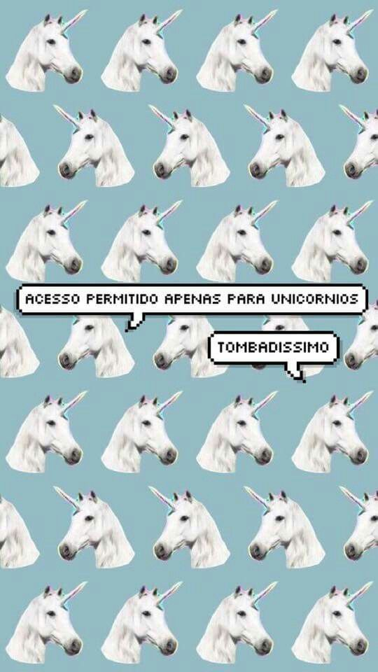 Uma tela de bloqueio para você! #Wallpaper #Unicornio