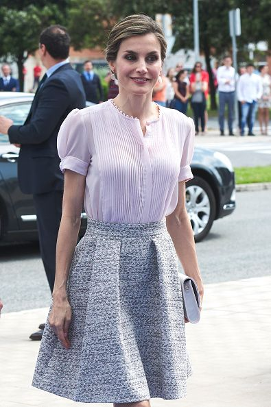 Royal Family Around the World: King Felipe VI of Spain and Queen Letizia of Spain Visit Volkswagen Factory on Its 50th Anniversary on June 29, 2016 in Navarra, Spain.