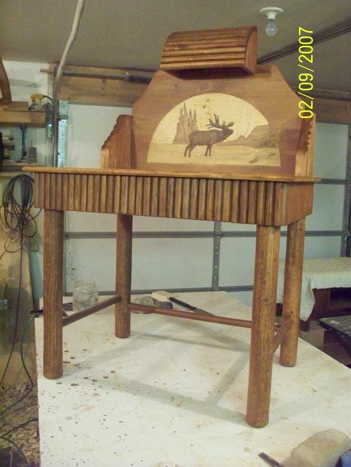 Awesome This Desk Can Be Made In Any Size Or The Carving Can Be Changed To What You  Would Like. Good Looking
