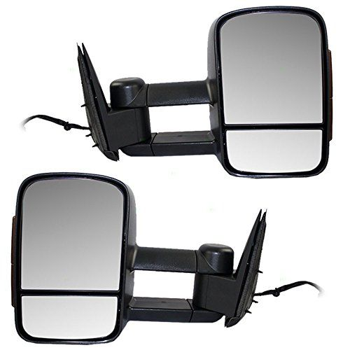 Pair of Power Tow Telescopic Mirrors Heated External Signal Performance Upgrade Mirrors for Cadillac Chevy GMC SUV Pickup Truck GM1322106 *** You can find more details by visiting the image link.