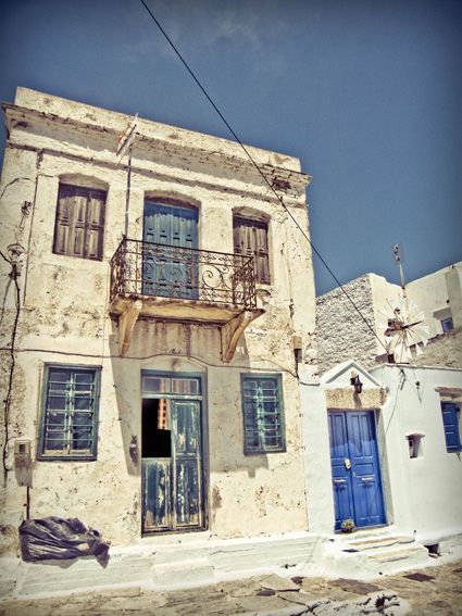 Just quit school, life and go rebuilt that house in Greece.  Abandoned house in Amorgos, Greece.